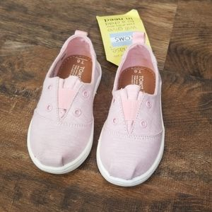 Toddler Girl's Toms Lumin Slip-On, Size 6 M - Pink